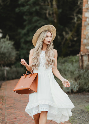 Bye Bye Baby Lace High Low Dress Cream CLEARANCE