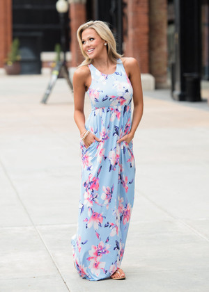 Nothing But a Memory Floral Pocket Maxi Dress
