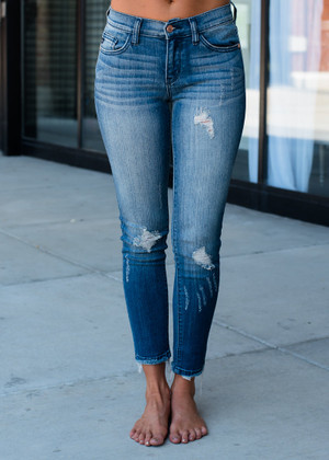 Always Different Distressed Jeans CLEARANCE