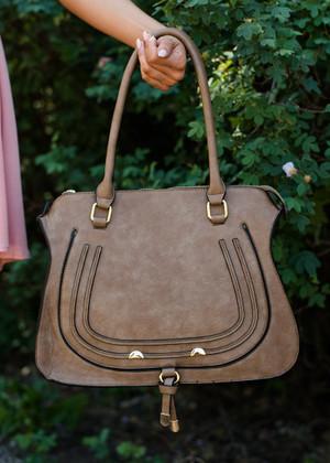 Impress Me Hobo Handbag Brown