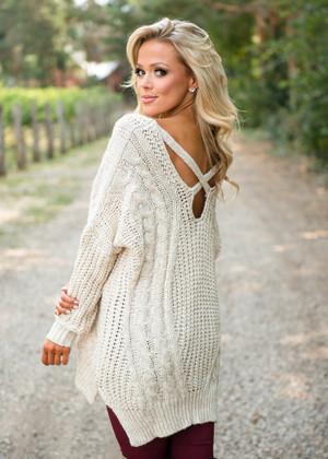 So Smitten Knit Sweater Tunic Oat