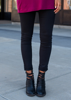Basic Skinny Jeggings Black