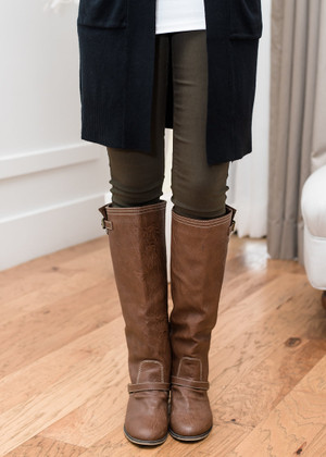 Basic Plain Skinny Jeans Olive