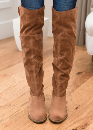 Lovin on Suede Tall Boots Camel