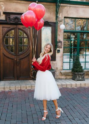 Flirty in White Tulle Skirt