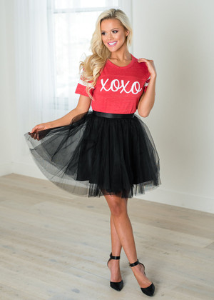 Beautiful Black Mini Tulle Skirt CLEARANCE