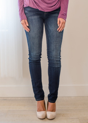 Comfy Faded Plain Skinny Jeans