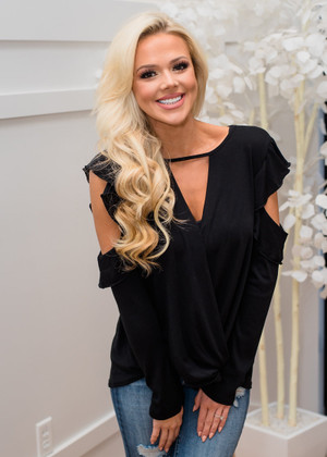 Part Of It All Ruffle Crossed Cold Shoulder Top Black