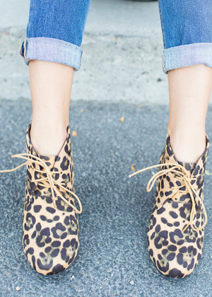 Wondrous Leopard Suede Wedges CLEARANCE