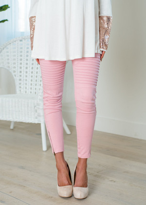 My Washed Moto Jeggings Pink