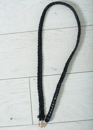 Essential Black Braided Belt CLEARANCE