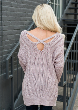 So Smitten Sweater Mauve CLEARANCE