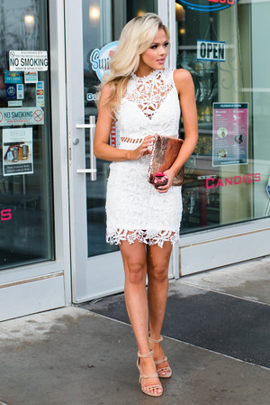 My Sweet Summertime Lace Tank Dress White