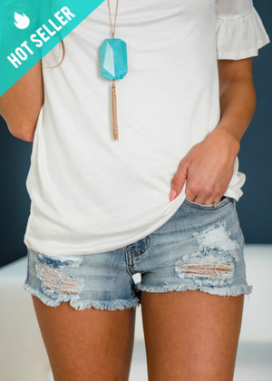 Endless Love Medium Wash Denim Shorts
