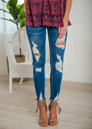 Walking Proud Natures Denim Dark Distressed Denim Jeans