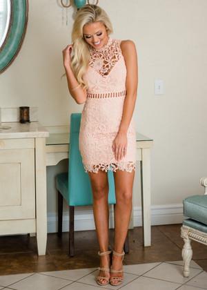 My Sweet Summertime Lace Tank Dress Blush