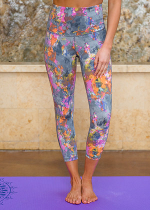 I Can Do This Splatter Watercolor Capri Leggings