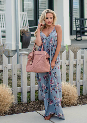 Just For the Weekend Floral Maxi Sage