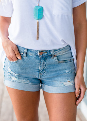 Perfect For Summer Distressed Denim Shorts