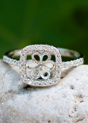 Enchanted Sterling Silver Ring Setting (Pearl NOT Included)