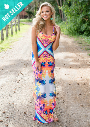 Stand Out Floral Boho Maxi Dress