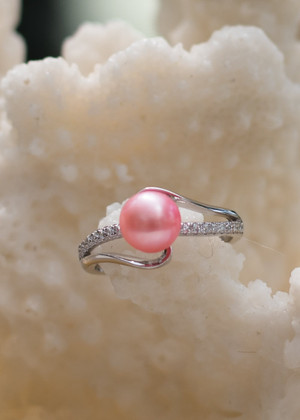 Now and Forever Sterling Silver Ring - LIVE PEARL OPENING