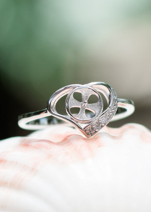 Heart Perfection Sterling Silver Ring Setting (Pearl NOT Included)