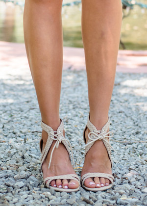 Adorned with Love Heels Nude