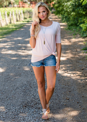 Perfect Transition Soft Dolman Top Light Pink