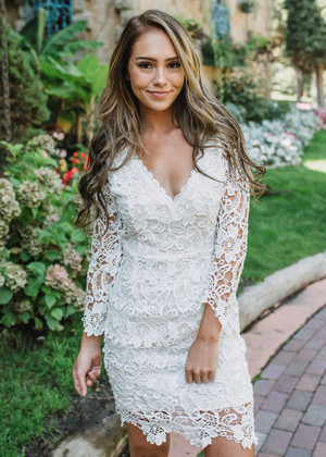 Ready For Love Crochet Lace Dress Ivory