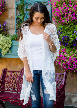 Don't Make Me Wait Crochet Lace Long Cardigan Ivory