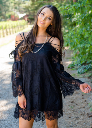 Cowgirl Up Lace Detail Dress Black CLEARANCE