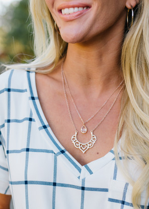 Nothing Holding Me Back Necklace Rose Gold