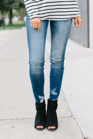 Eyes On You Distressed Skinny Jeans CLEARANCE