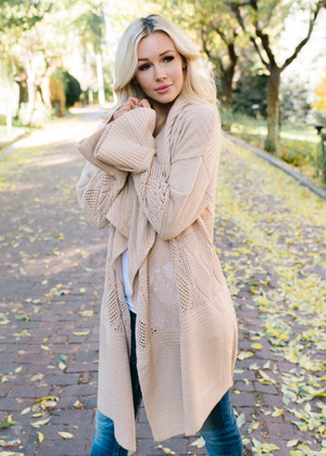Just To See You Smile Belle Textured Cardigan Natural
