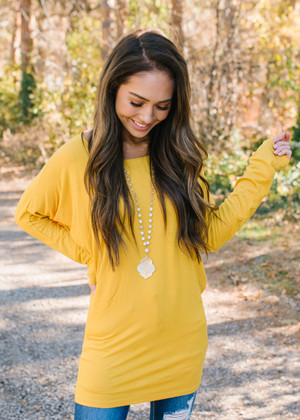 (Black Friday) Soft and Perfect Dolman Top Mustard