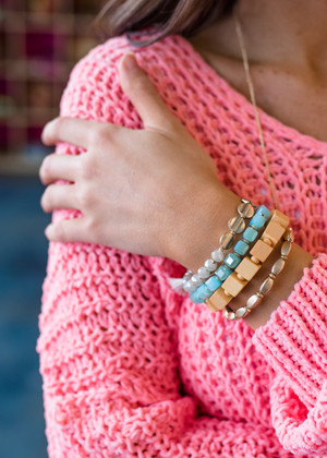 The Perfect Match Stack Bracelet Blue