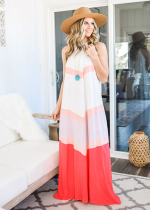 Remember When Tank Color Block Maxi Dress