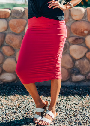 Part Of Your World Pencil Skirt Pink CLEARANCE