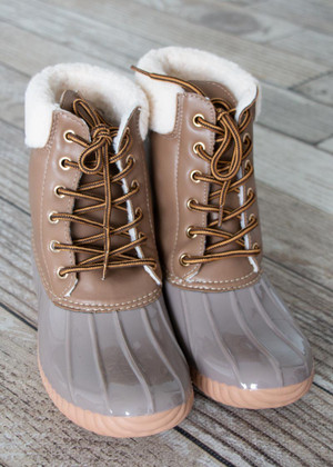 My Adventure Duck Boots Taupe