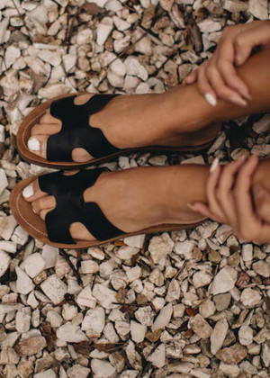 Step By Step Sandals Black CLEARANCE