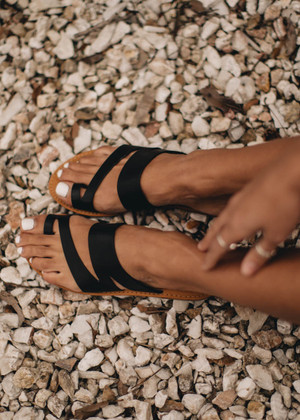 The Shoreline Sandals Black