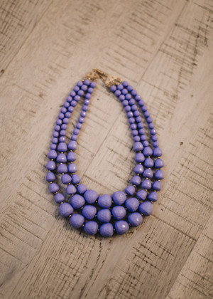 Lavender Triple Layer Necklace CLEARANCE