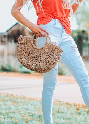 Straw Woven Purse CLEARANCE
