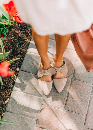 Some Things Are Meant To Be Bow Sandals Taupe CLEARANCE