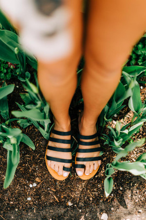 Stepping Forward Sandals Black