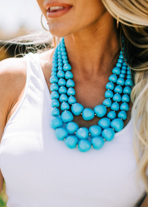 Turquoise Triple Layer Necklace CLEARANCE