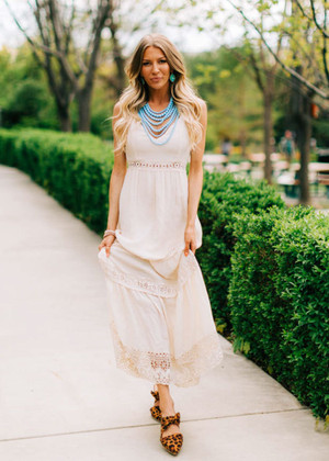 The Sounds Of Summer Lace Detailed Maxi Dress