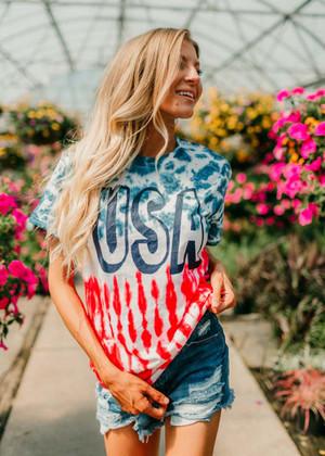 U.S.A. Tie Dye Tee CLEARANCE
