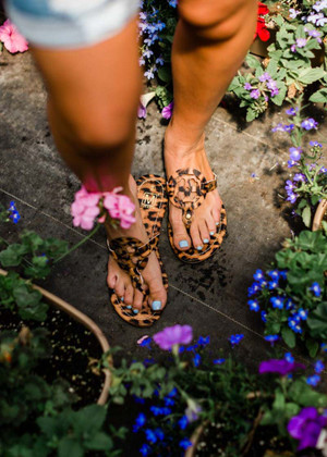 Heart And Soul Sandals Leopard